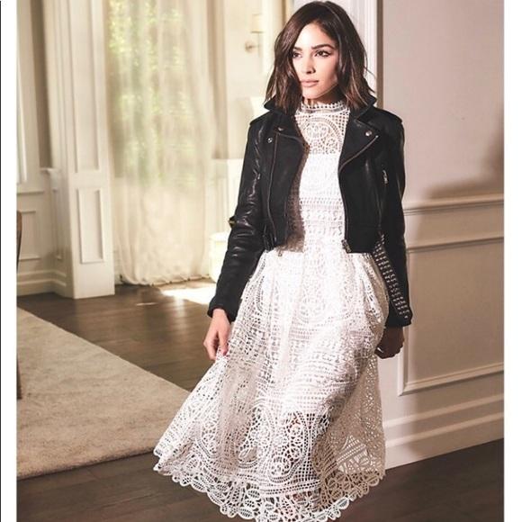Olivia Culpo X Le Tote Medallion Lace Dress Sz M